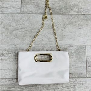 Claires Off White Clutch Bag